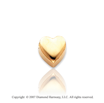 14k Yellow Gold Cute Kids Adorable Heart Pendant Spacer
