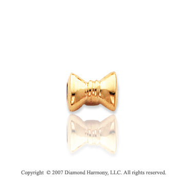 14k Yellow Gold Fabulous Kids Charming Bow Tie Spacer
