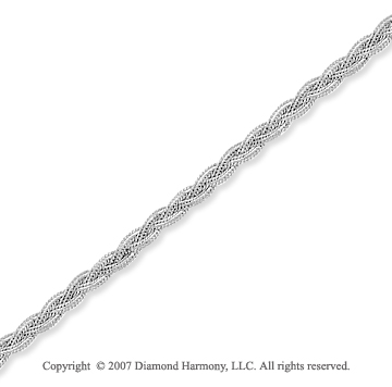 14k White Gold Twist Elegant Stylish Ankle Bracelet