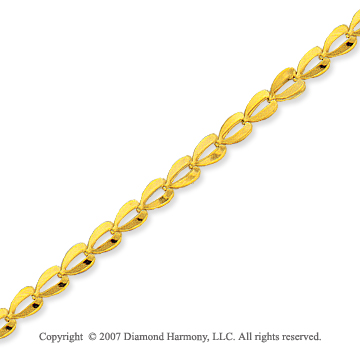 14k Yellow Gold Sleek Classic Style Fashion Ankle Bracelet