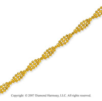 14k Yellow Gold Classic Elegance Stylish Ankle Bracelet