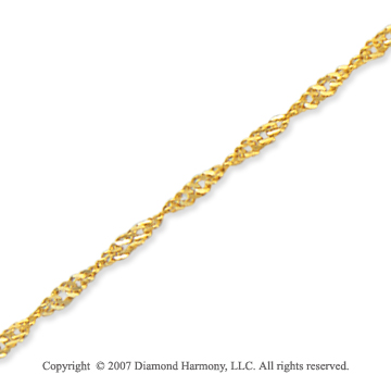 14k Yellow Gold Modern Classy Large Ankle Bracelet