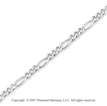 14k White Gold Classic Slick Fashion Ankle Bracelet