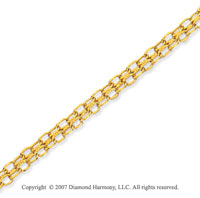 14k Yellow Gold Classic Style 10 inches Ankle Bracelet