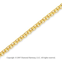 14k Yellow Gold Classic Style Fashion Ankle Bracelet