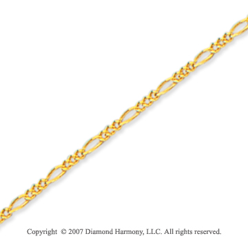 14k Yellow Gold Classic Elegance 10 inches Ankle Bracelet