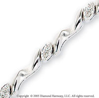 Diamond 14k White Gold Bracelet