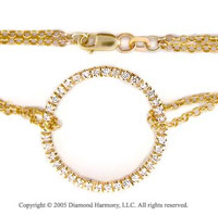 14k Yellow Gold 1/2  Carat Diamond Circle of Life Bracelet