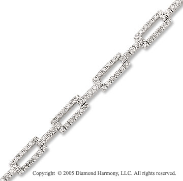 14k White Gold 1.05 Carat Diamond Bracelet