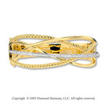 14k Two Tone Gold Fun 1/2 Carat Diamond Bangle Bracelet