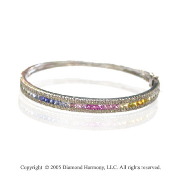 14k White Gold 5.20 Carat Diamond Bracelet