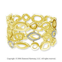 14k Yellow Gold Bubbles .50  Carat Diamond Bracelet