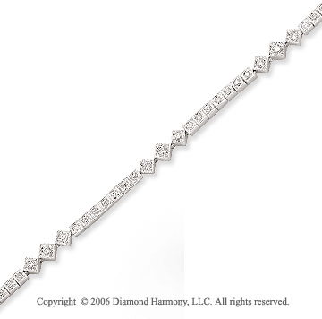 14k White Gold Prong 1/2 Carat Diamond Tennis Bracelet
