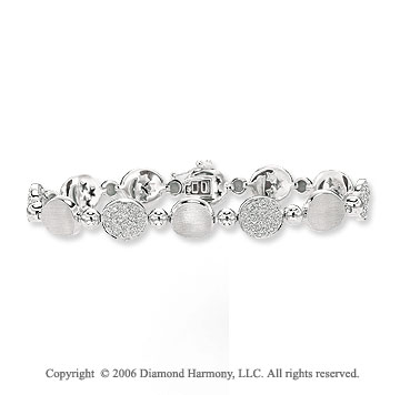 14k White Gold 1 3/4 Carat Diamond Fashion Bracelet