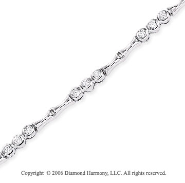 14k White Gold Trios 1/2 Carat Diamond Fashion Bracelet