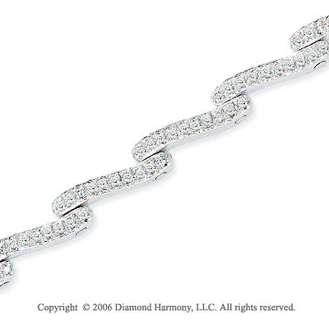 14k White Gold Swivel 1.00 Carat Diamond Fashion Bracelet