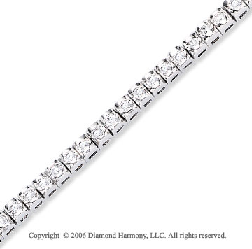 14k White Gold Bezel 2.00  Carat Diamond Tennis Bracelet