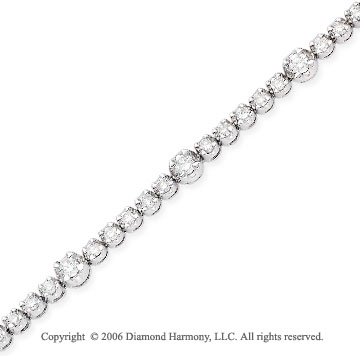 14k White Gold 5 to One 2.75 Carat Diamond Tennis Bracelet