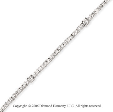 14k White Gold Squares 1.60  Carat Diamond Tennis Bracelet