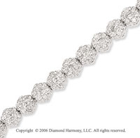14k White Gold Hexagons 5.15  Carat Diamond Tennis Bracelet
