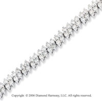 14k White Gold 3.00 Carat Prong Diamond Fashion Bracelet