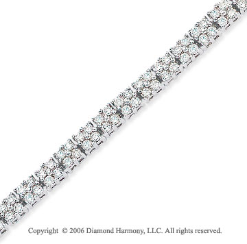 14k White Gold Quads 3.65  Carat Diamond Tennis Bracelet