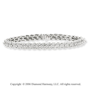 14k White Gold Layered 3.10  Carat Diamond Tennis Bracelet