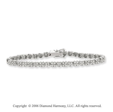 14k White Gold Prong 2.00  Carat Diamond Tennis Bracelet