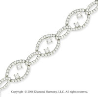 14k White Gold Prong 4.00 Carat Diamond Fashion Bracelet
