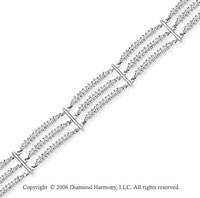 14k White Gold 2.30 Carat Diamond Fashion Bracelet