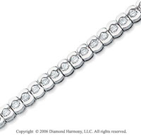14k White Gold Capsules 2.00  Carat Diamond Tennis Bracelet