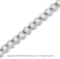 14k White Gold Capsules 5 Carat Diamond Tennis Bracelet