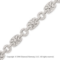 14k White Gold XO 1 1/2 Carat Diamond Fashion Bracelet