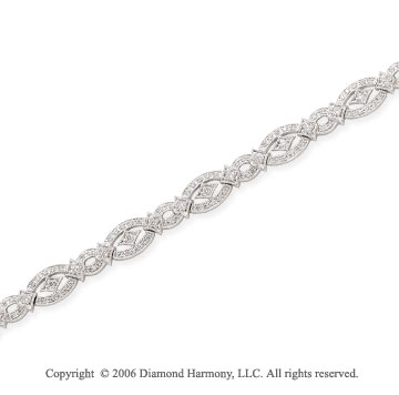 14k White Gold 1 2/5 Carat Diamond Fashion Bracelet