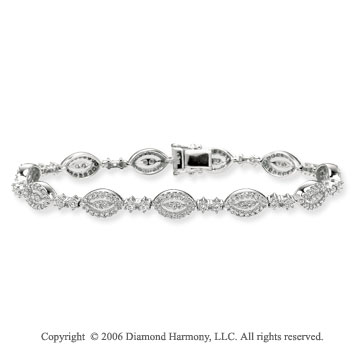 14k White Gold Prong 2.00 Carat Diamond Fashion Bracelet