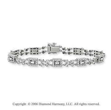 14k White Gold 1 1/2 Carat Diamond Fashion Bracelet
