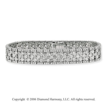 14k White Gold Bezel Prong 12 3/4  Carat Diamond Tennis Bracelet