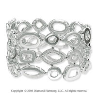 14k White Gold Shapes 1/2 Carat Diamond Fashion Bracelet