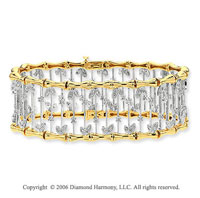 14k Two Tone Gold Carousel 1 1/5 Carat Diamond Bracelet