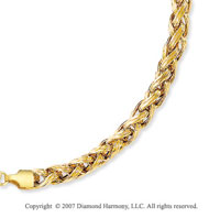 Carved Woven Rope Lobster Lock 14k Yellow Gold Bracelet
