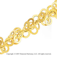 Avalanche Of Linking Loops 14k White Gold Bracelet