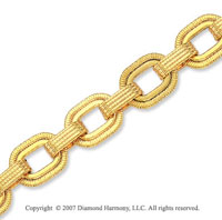 Rope Springs Milgrain Loops 14k Yellow Gold Bracelet