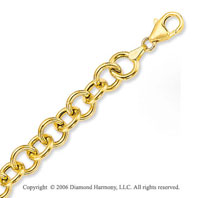 14k Yellow Gold Classic Single Ring 9mm Charm Bracelet
