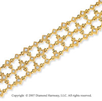 14k Yellow Gold Elegance Prong 1.35 Carat Diamond Bracelet