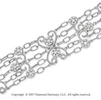 14k White Gold Graceful 2.30 Carat Diamond Bracelet