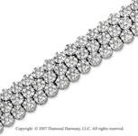 14k White Gold Prong 11.00 Carat Diamond Tennis Bracelet