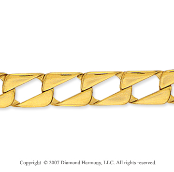 14k Yellow Gold Classic 8.00mm Men's Straight Curb Bracelet