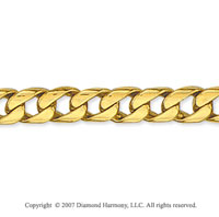 14k Yellow Gold Classic Straight Curb Men's Bracelet