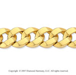 14k Yellow Gold Stylish Wide 12mm Men's Curb Bracelet