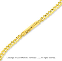 14k Yellow Gold Sleek Regular 8.00mm Men's ID Bracelet